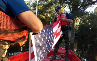 Coast Guard punt team responds to flooding in eastern NC