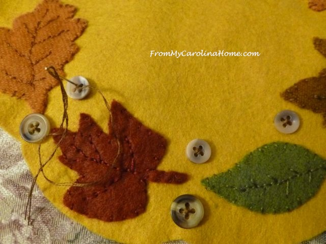 Autumn Jubilee Wool Stitch Along ~ From My Carolina Home