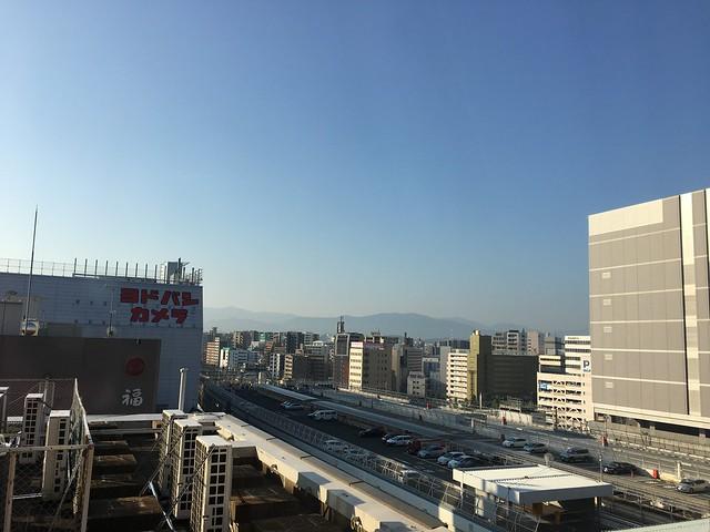 窗外的風景@克里歐法庭博多飯店Clio Court Hakata Hotel, 日本九州福岡(FUKUOKA / HAKATA)