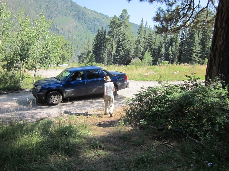 I begged a ride to the Vallecito Campground from a nice couple and saved a boring day hiking along a road