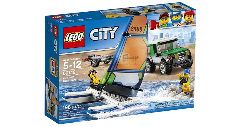 LEGO City 4×4 with Catamaran (60149)