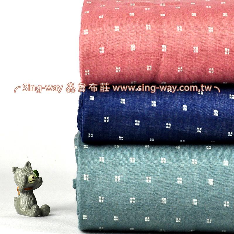 馬賽克 雙重紗 雙層紗 嬰兒紗布衣 手帕 口水巾 睡衣 布料 二重紗 CA890032