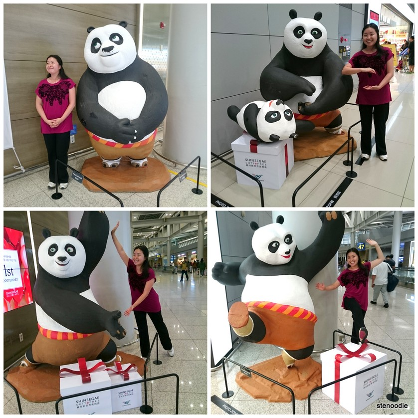 Kung Fu Panda photo ops at Incheon