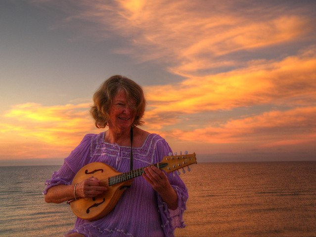 Sue with Mandolin