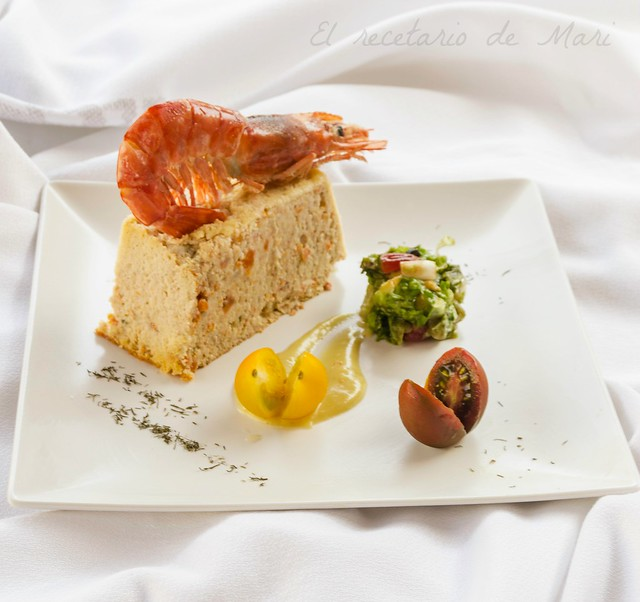Pastel de pescado y mariscos