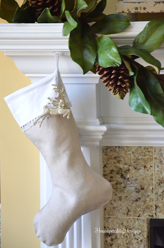 Vintage Lace Christmas Stocking - Housepitality Designs