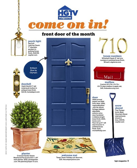 HGTV Feature of the Red Porch Mailbox by TheBusBox
