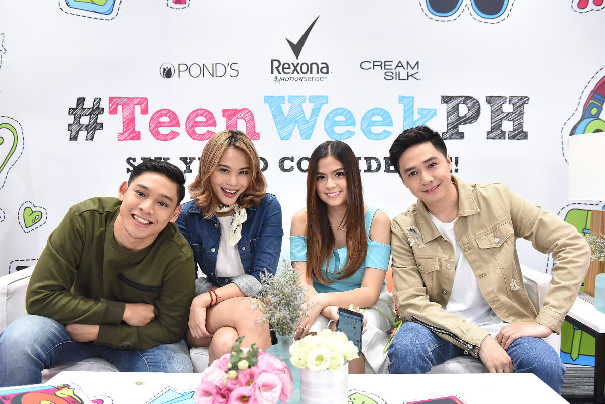 Teen Week Squad. Nikko Ramos, Jaz Reyes, Alexa Ilacad and Sam Concepcion