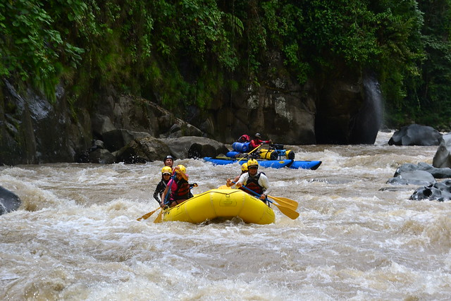 stunning waterfalls and rapids on the Rio Pacuare