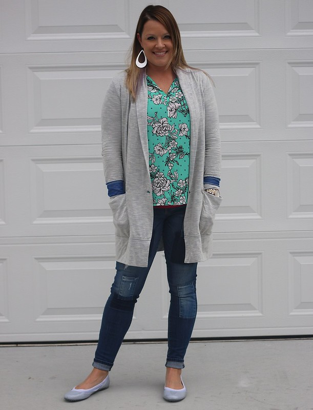 Fall Outfit :: Flats + Cardigan love