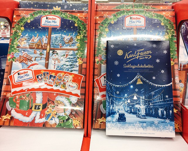 joulukalenteri, valinta, choose, auppa, store, shop, advent calendar, christmas calendar, joulu, christmas, suklaa kalenteri, kinder, karl fazer,