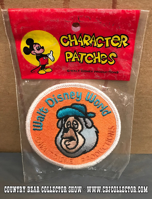 Vintage 1970s Walt Disney World Big Al Character Patch - Country Bear Jamboree Collector Show #073