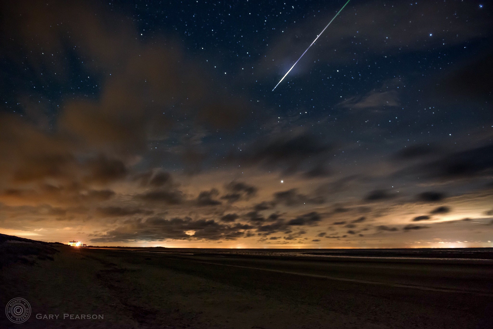 A Perseid meteor over Brancaster
