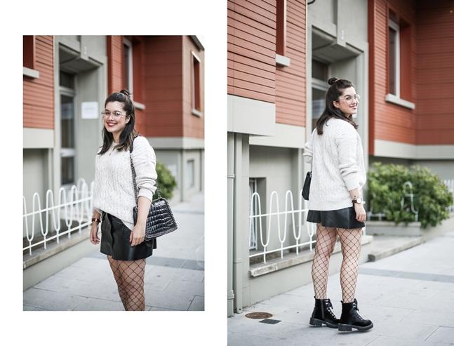 look tendencia medias rejilla falda abotonada botas terciopelo stradivarius myblueberrynightsblog3