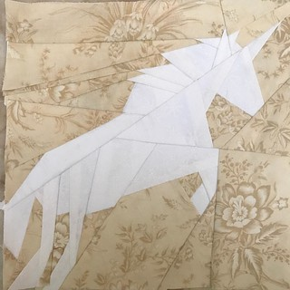 Fantastic Beast Quilt A Long Week 3 - Rearing Unicorn #fandominstiches #fbqal
