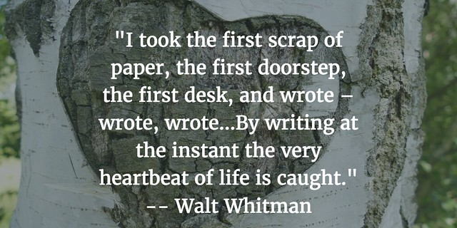 Walt on Writing