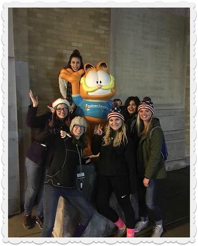Katie Dec 2016 college with Garfield