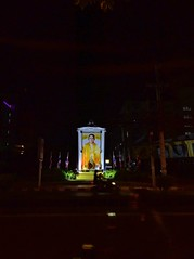 Chiang Mai at night - homage to Thailand's beloved King Bhumibol Adulyadej.