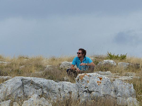 méditation dans la montagne