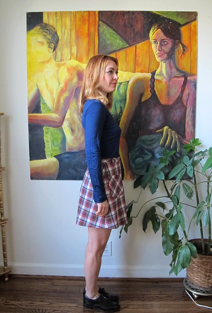 Plaid Rosari Skirt - side