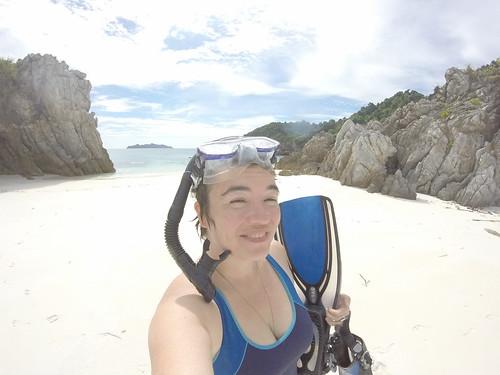 GoPro snorkel selfie