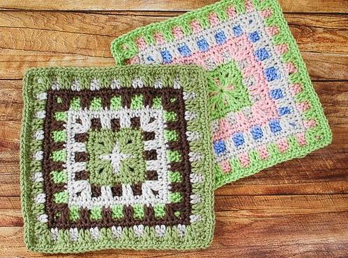 Caterpillar Square Crochet Pattern