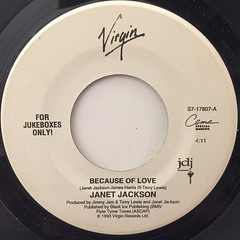 JANET JACKSON:BECAUSE OF LOVE(LABEL SIDE-A)