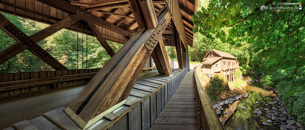 Cedar Greek Grist Mill with Covered Bridge
