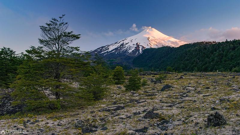 Volcán Villarrica at dusk - Pucón