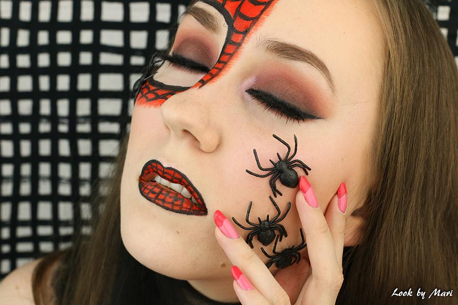 10 spider man costume makeup hämähäkkimies meikki asu halloween