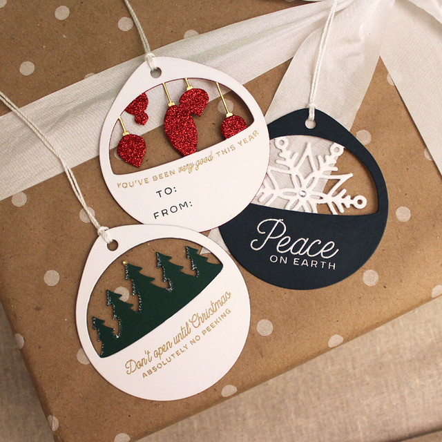 Layered Christmas Cuts Tag Trio