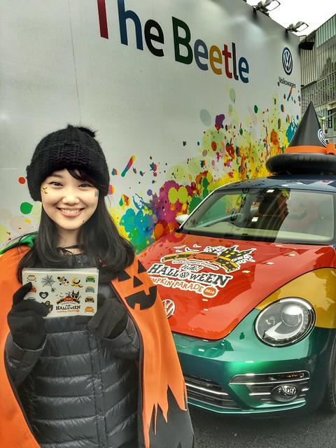 Folkswagen the Beetle & girl