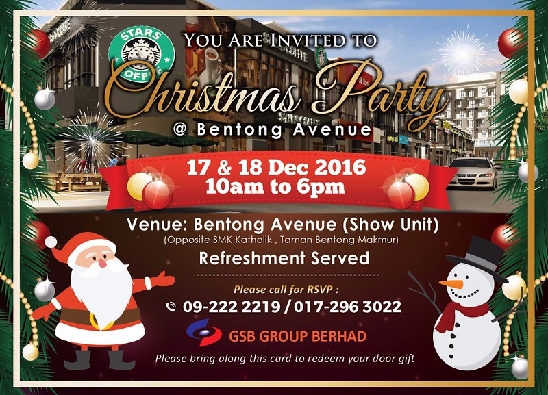 Bentong Avenue Invitation Card Front