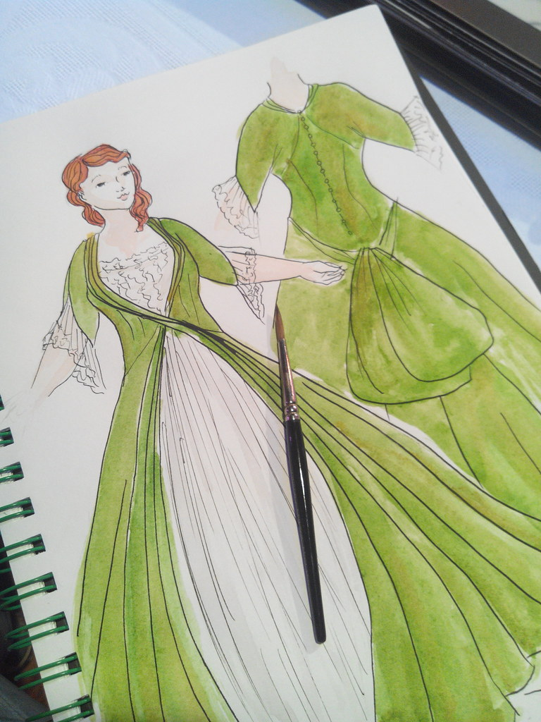 Croquis pour robe de mariée grande taille