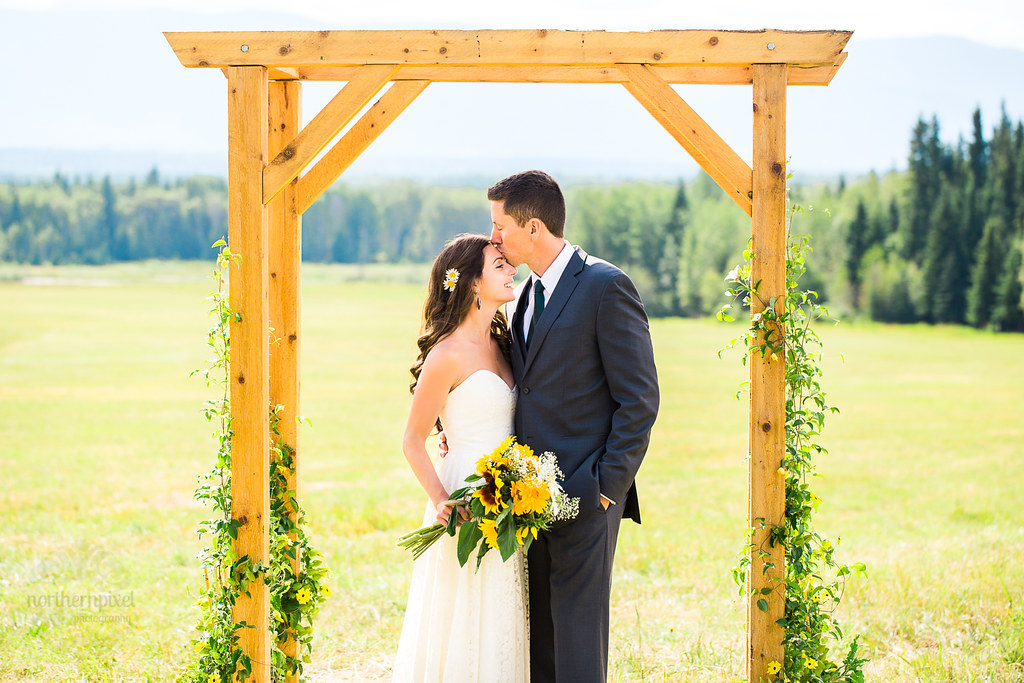 Newlywed Couple - Smithers BC Wedding