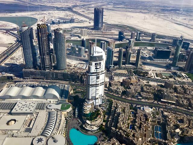 Vy från Burj Khalifa