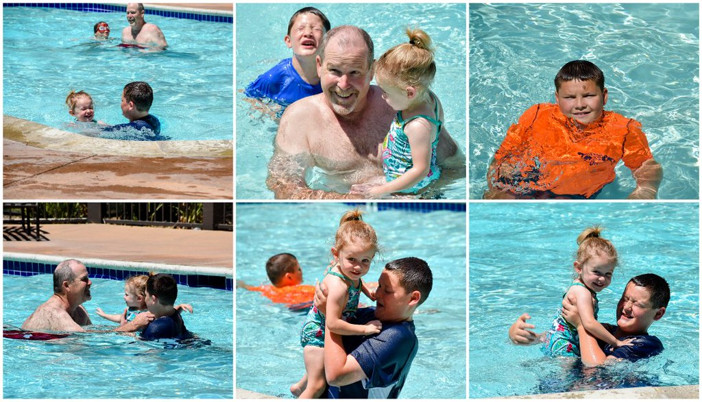 swimming with truck grandpa one
