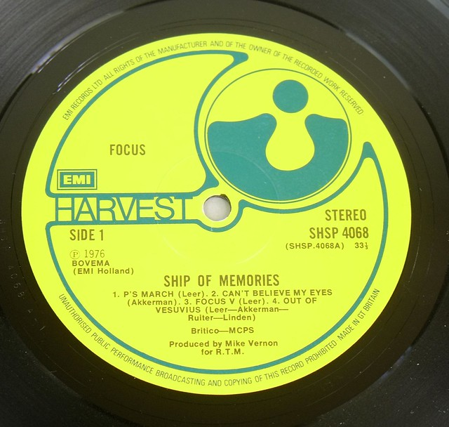 "FOCUS? SHIP OF MEMORIES 12"" LP ALBUM VINYL"