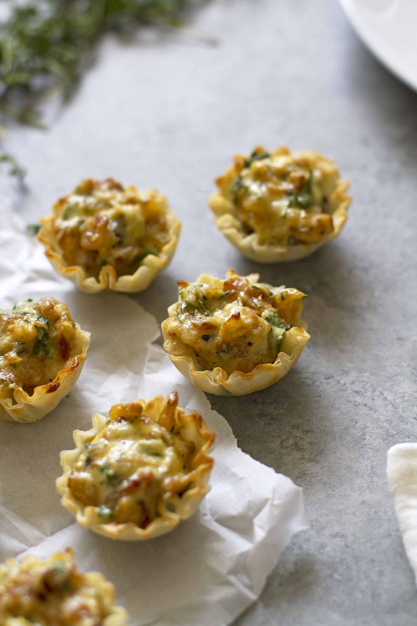 French Onion Tartlets | girlversusdough.com @girlversusdough