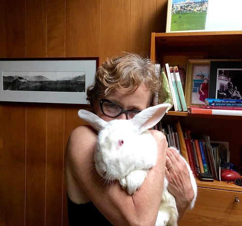 Wendy Cook and rabbit