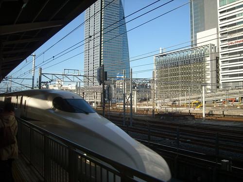 名古屋駅新幹線ホームより