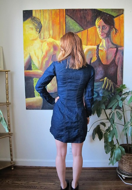 Denim Rosa Dress - back