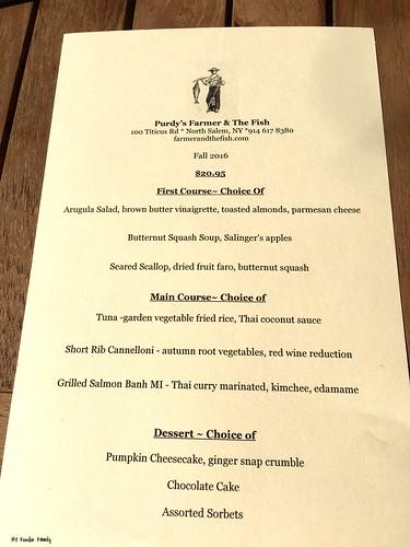 Purdy's Farmer & The Fish Restaurant Week Menu