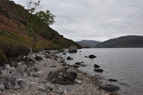 Pebble beach, Loch Morar