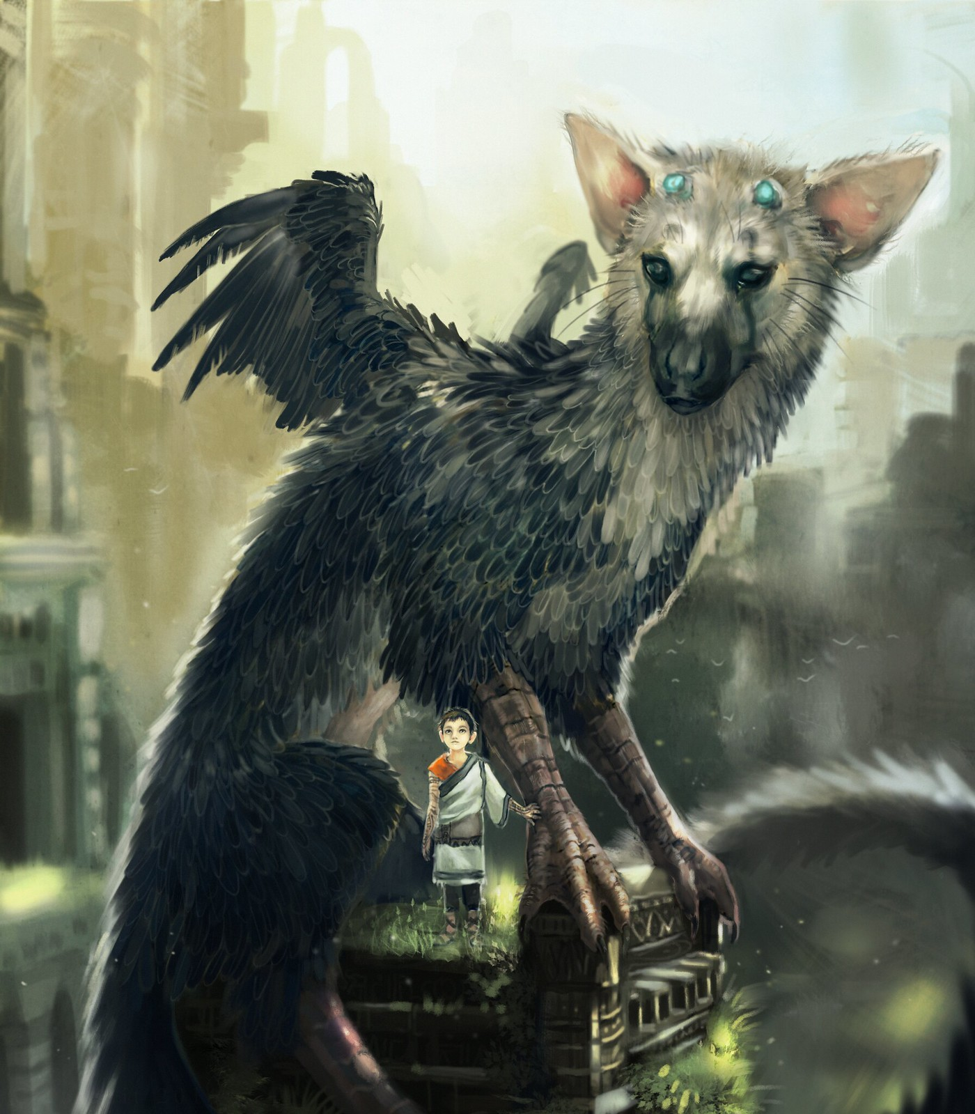 The incredible fan art of the last guardian playstationrope the last guardian gumiabroncs Images