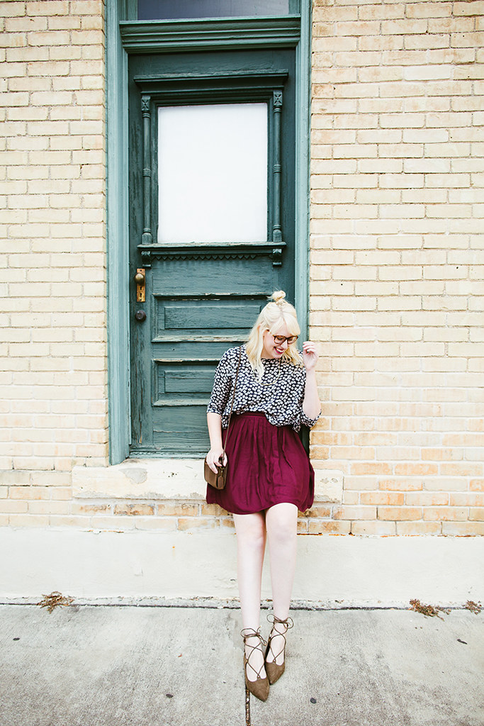 writes like a girl fall outfit colorblock jewel tones2