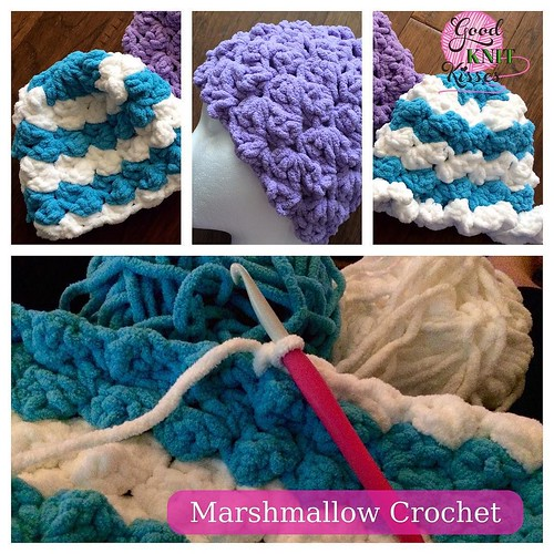 Marshmallow Crochet Baby Blanket Pattern Free : Marshmallow Crochet baby hats done, working on matching ...