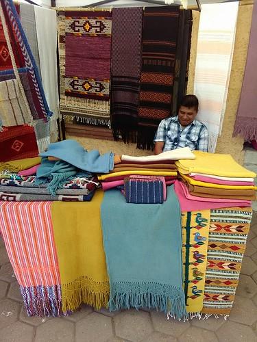 Sergio Lazo Mendoza at the Pochimilco Market
