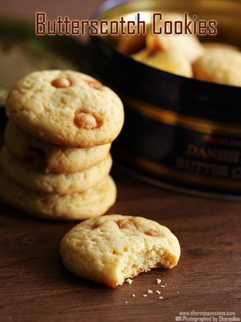 Eggless Butterscotch Cookies Recipe