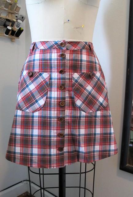 Plaid Rosari Skirt - on dressform